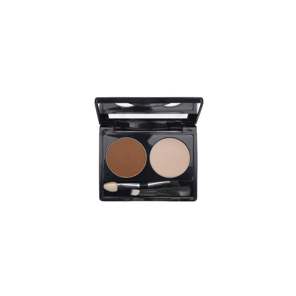 2-Well Brow Palette - Deep Brown - 708