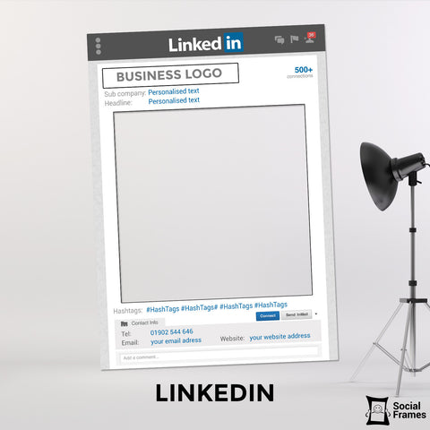 LinkedIn Photo Booth Frame