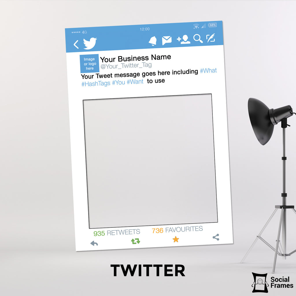 Twitter Photo Booth Selfie Frame Social Frames