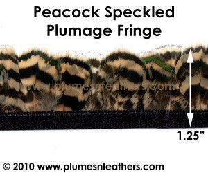 Peacock Speckled Plumage Fringe
