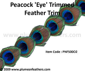 Peacock 'Eye' Feather Trim I