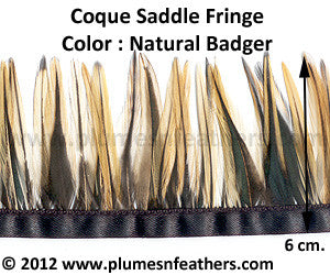 Coque Saddle Badger Fringe 6cm