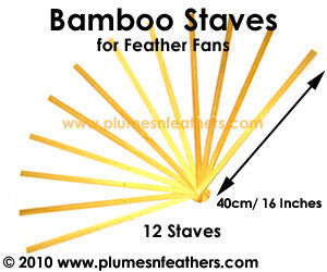 "16"" 12 Bamboo Staves only."