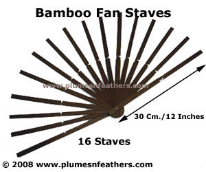 16 Bamboo Staves 12""