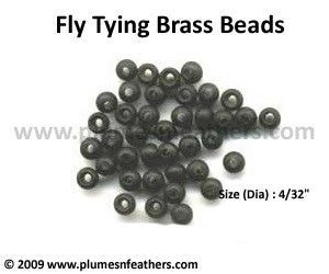 Fly Tying Brass Beads 'Black' M
