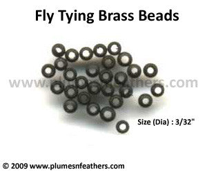 Fly Tying Brass Beads 'Black' S