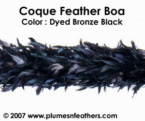 Coque Boa Dyed Black 200 Grams