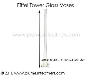 Eiffel Tower Glass Vase 24""