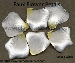 Paper Faux Rose Petals White