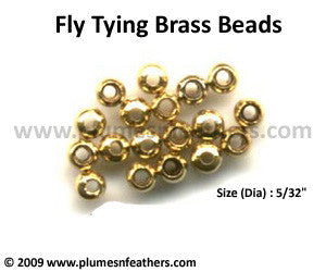 Fly Tying Brass Beads 'Gold' L
