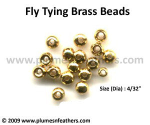 Fly Tying Brass Beads 'Gold' M