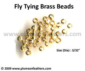 Fly Tying Brass Beads 'Gold' S