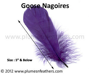 "Goose Nagoires Loose Dyed 5"" & Below 25 Pcs"