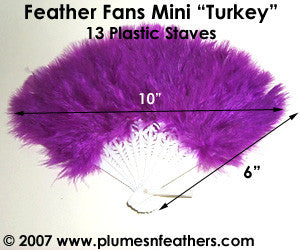 "Turkey Marabou Fan 6"" (Mini)"