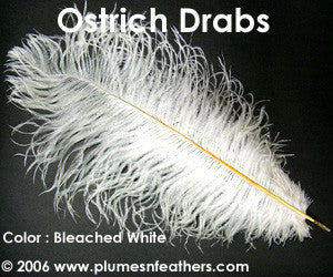 "Bleached White Drabs 8""/10"""