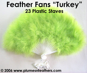 Turkey Marabou Fan 12""