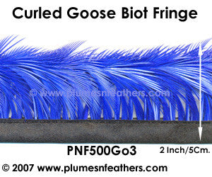 Curled Goose Biot Feather Fringe