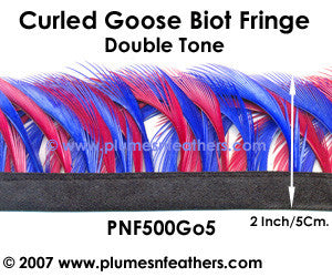 Curled Goose Biot Feather Fringe II