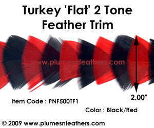 Turkey Flat Feather Trim