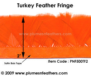 Turkey Flat Feather Fringe