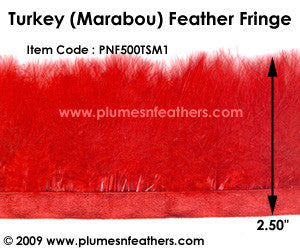 Turkey 'Short' Marabou Feather Fringe