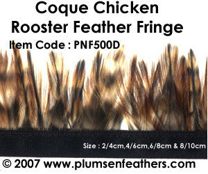 Coque Red Chinchilla Fringe 4/6cm