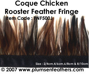 Coque Natural Red Fringe 6/8cm