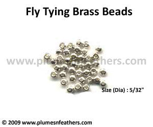 Fly Tying Brass Beads 'Silver' L