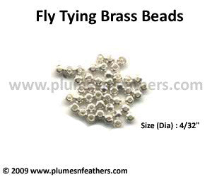 Fly Tying Brass Beads 'Silver' M