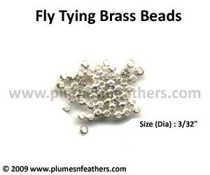 Fly Tying Brass Beads 'Silver' S