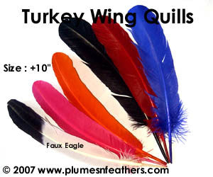 "Turkey Quills 10""/14"" Dyed Selected"