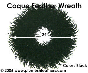 Feather Wreath Coque Saddle '7'
