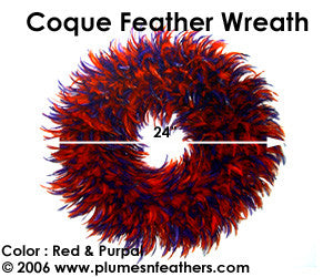Feather Wreath Coque Saddle '4'