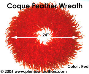 Feather Wreath Coque Saddle '1'