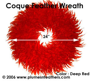 Feather Wreath Coque Saddle '6'