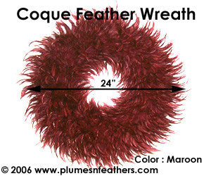 Feather Wreath Coque Saddle '8'