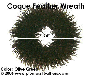 Feather Wreath Coque Saddle '12'