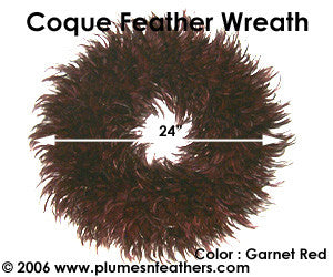 Feather Wreath Coque Saddle '9'