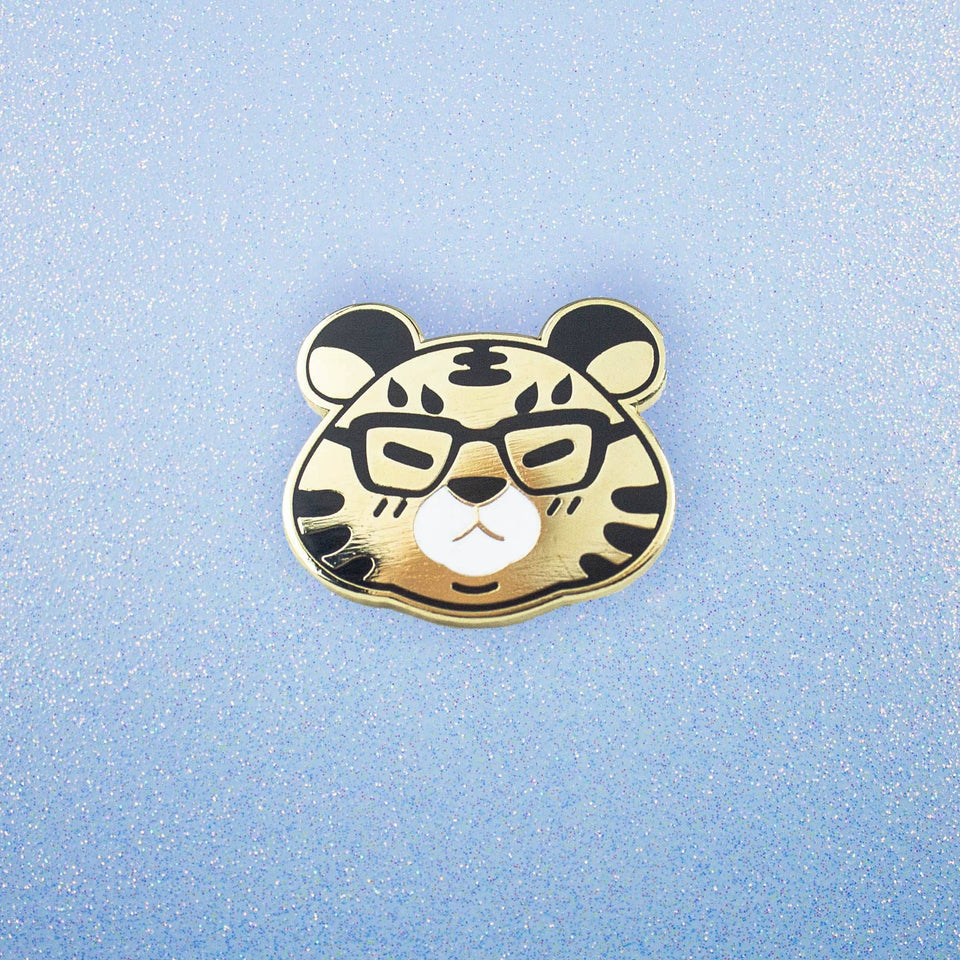 Shine Bright - Tiger Enamel Pin