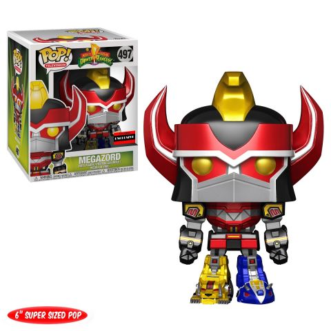 "Power Rangers Funko POP! AAA Anime Exclusive - 6"" Metallic Megazord #497"