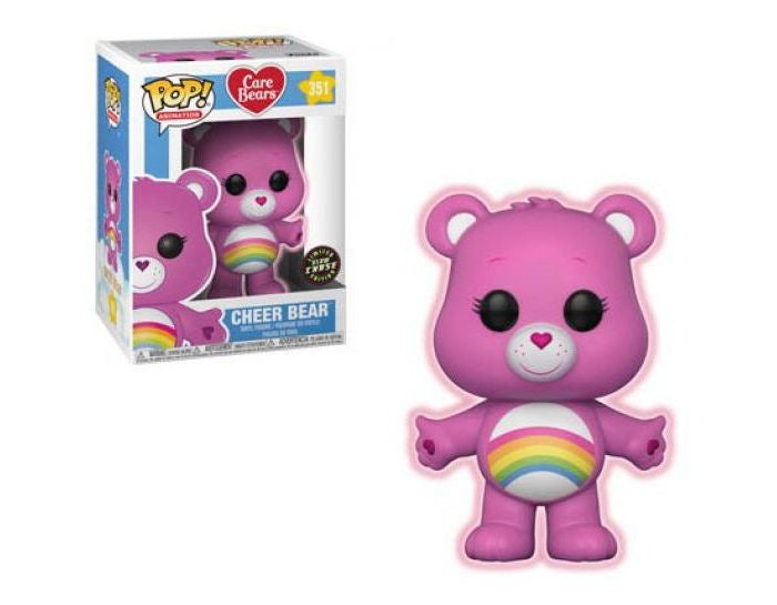 Funko Pop! Animation CHASE Cheer Bear Care Bears Glow In the Dark