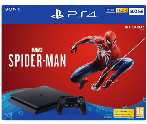 PlayStation 4 Slim 500GB Console - Spiderman + TSHIRT BY @ALEXTILOLIBRE + LLAVERO DE ELECCIÓN