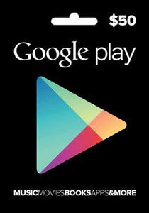 Google Play Gift Cards US$50 - Digital Code