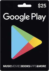 Google Play Gift Cards US$25 - Digital Code