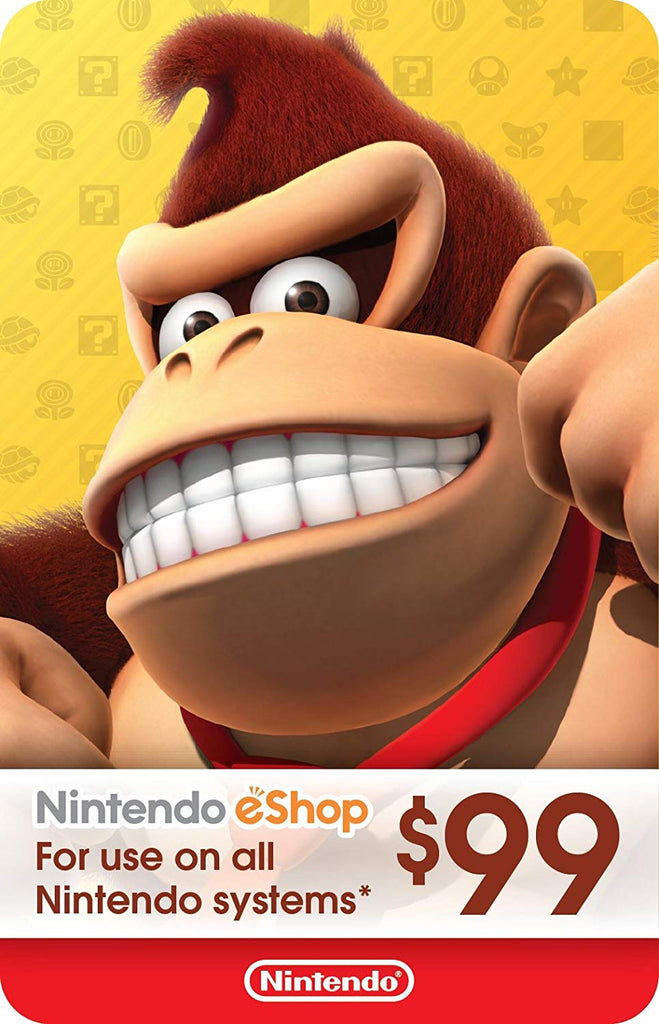 Nintendo eShop Gift Card USD$99 - Switch / Wii U / 3DS [Digital Code]