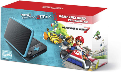New Nintendo 2DS XL - Black - Turquoise With Mario Kart 7 Pre-installed + TSHIRT BY @ALEXTILOLIBRE + LLAVERO