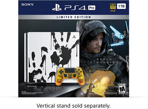 PlayStation 4 Pro 1TB Limited Edition Console - Death Stranding Bundle + Tshirt + Llavero