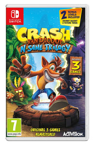 Crash Bandicoot N. Sane Trilogy - Nintendo Switch Standard Edition - Segunda Mano