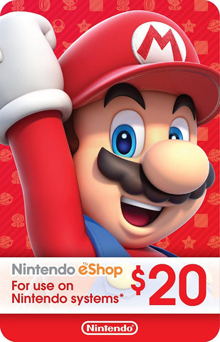 eCash - Nintendo eShop Gift Card USD$20 - Switch / Wii U / 3DS [Digital Code]