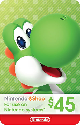 eCash - Nintendo eShop Gift Card $45 - Switch / Wii U / 3DS [Digital Code]